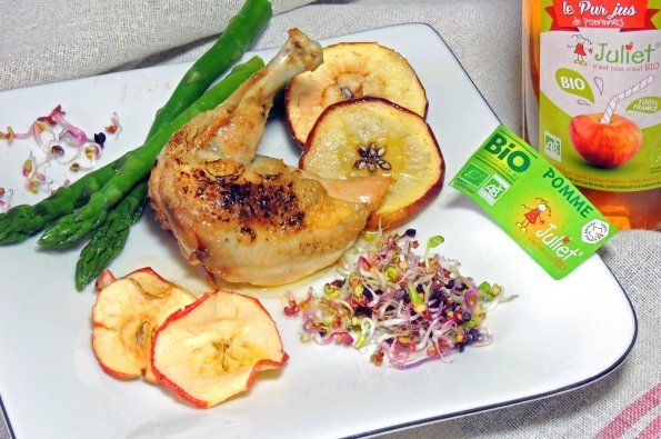 Marinated chicken supremes with Juliet® apples